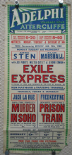 Exile Express UK film poster, Anna Sten, Alan Marshal, 1939